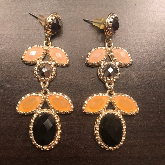 Francesca's Collections Jewelry - Black and Cream Statement Drop Earrings